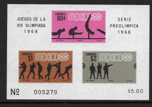 Mexico 995A  1968 S/S VF NH