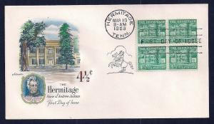 UNITED STATES FDC 4½¢ Hermitage BLK Hand Color 1959 Artmaste
