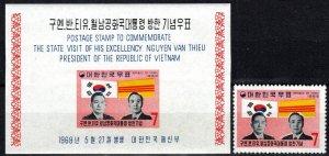 Korea #656, 656a   MNH CV $10.75 (K3071)