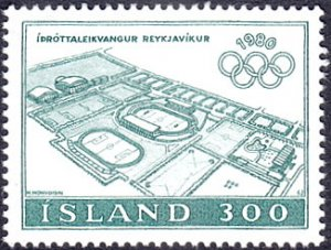 Iceland # 531 mnh ~ 300k Olympic Sports Complex