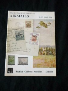 STANLEY GIBBONS AUCTION CATALOGUE 1968 AIRMAILS 'RAAB' COLLECTION