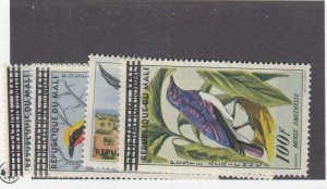 MALI # G155-G158 VF-MLH DIFFERENT BIRDS AIRMAILS CAT VALUE $44.75