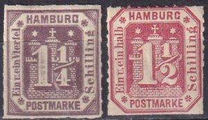 Hamburg #24-5 F-VF Unused Reprints CV $52.50 (Z6833)