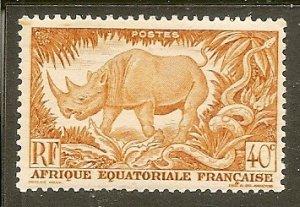French Equatorial Africa   Scott 168   Animal   MNH