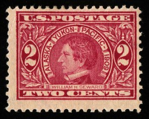 B684 U.S. Scott #370 2c Alaska-Yukon mint hinged