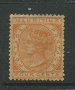 STAMP STATION PERTH: Mauritius #71 MNG 1882  Single 4c Stamp