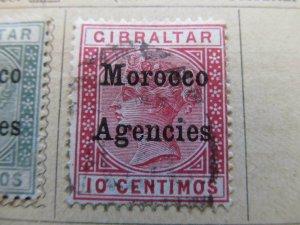 British Morocco 1899 Wmk Mult Crown CA 10c fine used stamp A11P30F8