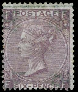 SG97, 6d lilac plate 5, M MINT. Cat £1100. FF