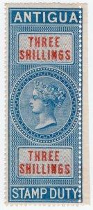 (I.B) Antigua Revenue : Duty Stamp 3/-
