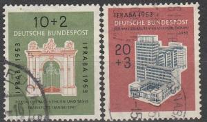 Germany  #B332-3 F-VF Used CV $45.00 (C7247)