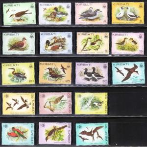 1982-5 Kiribati Scott 384-399 Bird set complete MNH