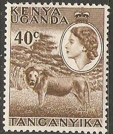 Kenya Uganda Tanganyika 1958 Scott 109 Queen&Lion MLH