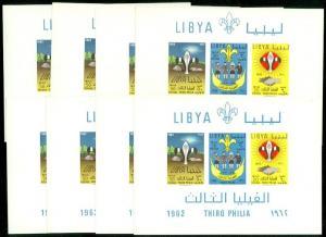 EDW1949SELL : LIBYA 1962 Scott #225 Scouts. 8 Souvenir Sheets. VF MNH. Cat $160.
