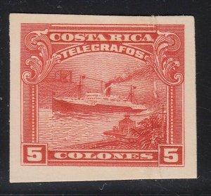 Costa Rica 1910 5col Carmine Ship Telegraph ABNC Plate Proof