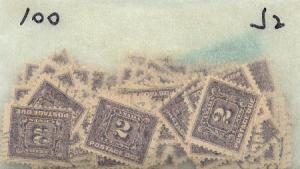 Canada - 1906 2c Violet Postage Due X 100 used #J2