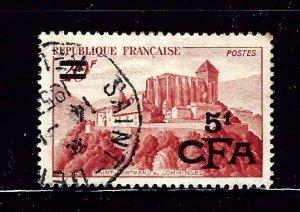 Reunion 286 Used 1951 overprint