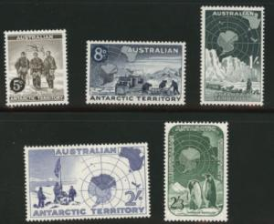 AUSTRALIA Antarctic Territory Scott 1-5 MNH** first set