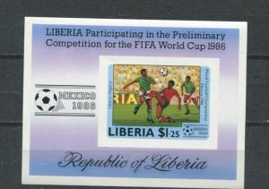 Liberia 1986 Sheet Imperf. MNH Soccer(Football) Cup World Championship Proof