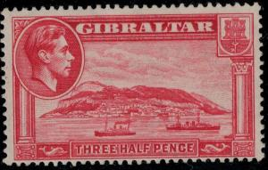 Gibraltar 1938-1949 SC 109b Perf 13 1/2 Mint SCV $190.00