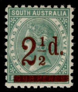 AUSTRALIA - South Australia QV SG229, 2½d on 4d pale green, M MINT.