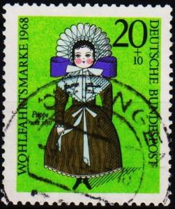 Germany. 1968 20pf+10pf  S.G.1474 Fine Used