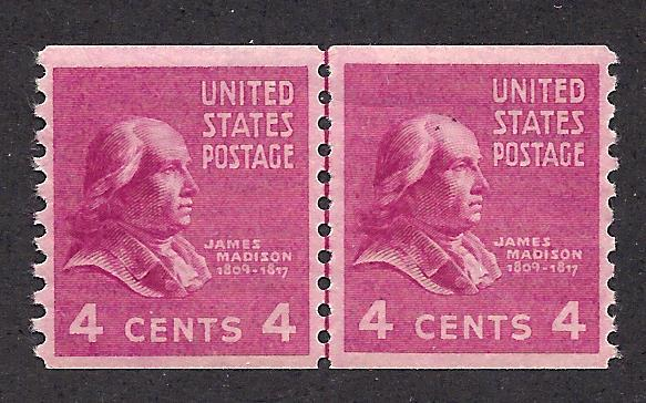 843 Mint,OG,NH... Line Pair... SCV $27.50