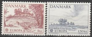 Denmark #600-601 MNH CV$3.60 Europa CEPT
