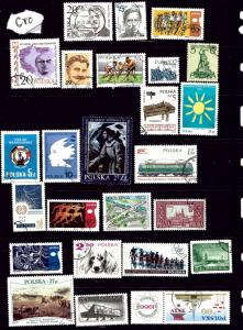 Poland #2 25 different CTO stamps