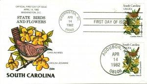COLLINS HAND PAINTED 1992 Birds And Flowers S. Carolina Wren Carolina Jessamine
