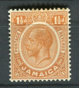 JAMAICA; 1912 early GV issue fine Mint hinged 1.5d. value