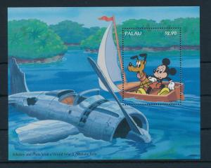 [23243] Palau 1994 Disney Mickey Mouse Pluto sail to World War II Airplane MNH