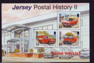 Jersey Sc 1241c 2006 Postal Vehicles stamp sheet mint NH