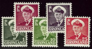 Greenland #28-32 Mint F-VF.. Popular Country!