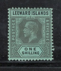 Leeward Islands 1912 King George V 1sh Scott # 54 MH