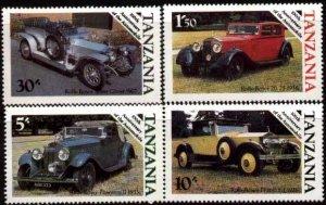 Automobile Cent., Classic Autos by Rolls-Royce, Tanzania SC#263-6 MNH set