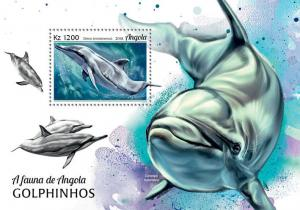 Z08 ANG18105b ANGOLA 2018 Dolphins MNH ** Postfrisch