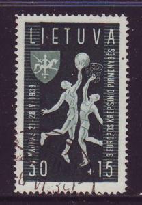 Lithuania Sc B53 1939 Basket Ball Championships stamp used