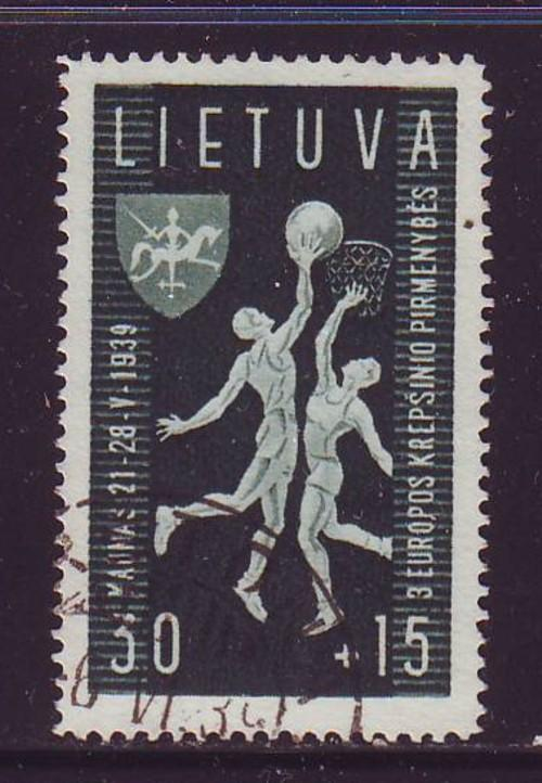 Lithuania Sc B53 1939 Basket Ball Championships stamp used
