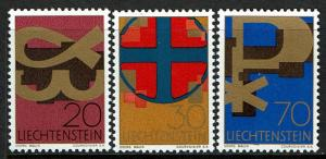 Liechtenstein Scott 426-28 (SW 486-88) MNH (1967) Religion - Christian Symbols