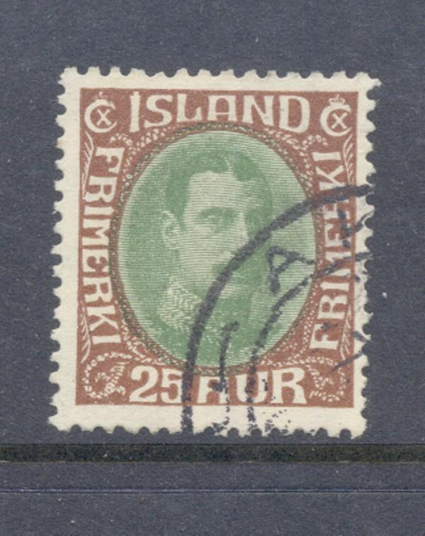 Iceland Sc 182 1931 25 a Christian X stamp used