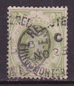 Great Britain 1887 1 Shilling green QV Jubilee Hi-Val.   FINE/(0)