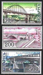 Belarus. 2002. 464-66. Bridges in Belarus. MNH.