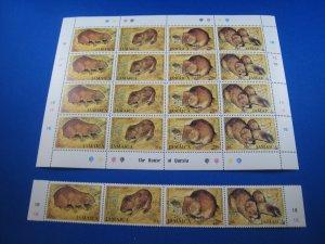 JAMAICA 1981  -  SCOTT # 499  FULL SHEET & STRIP OF 4 -  LOT OF 4 MNH