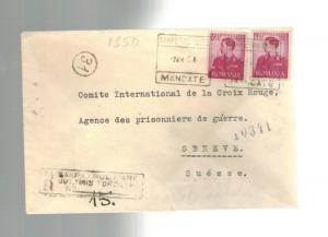 1943 Sanpetru-Nou Romania Jewish Labor Camp Cover to Red Cross Switzerland