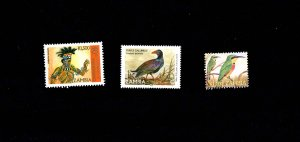 Zambia Independence birds 3 stamps all mint MNH