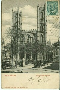 to FRANCE 1905 Notre Dame church Edward issue Post Card Canada
