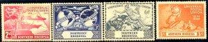 UPU, Universal Postal Union 75th Anniv, Northern Rhodesia SC#50-53 MNH set
