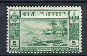 FRENCH; NEW HEBRIDES 1938 early pictorial issue fine Mint hinged 5c. value