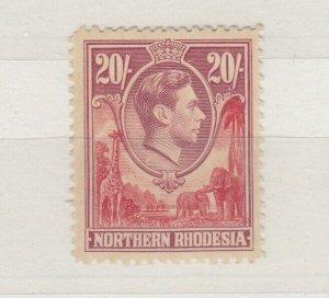 Northern Rhodesia KGVI 1938 20/- SG45 MVLH J9637