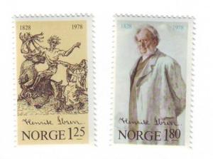 Norway Sc725-6 1978 Henrik Ibsen stamps mint NH